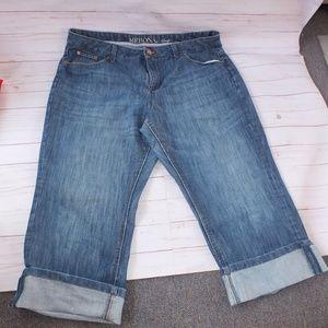 Merona Plus Size 20W Crop Jeans Medium Wash Capri